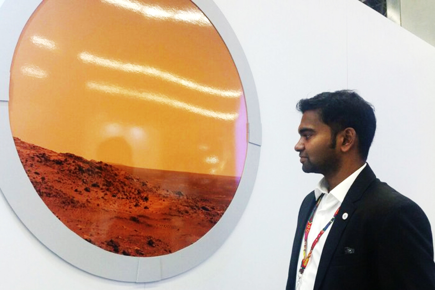 An Indian Student from the Samara University Presented the Mars Flight Project