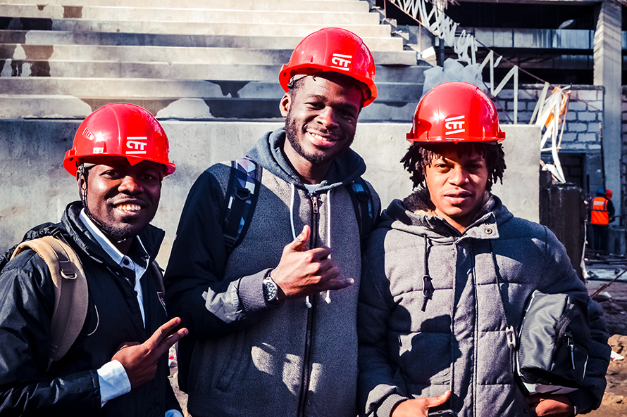 UNN International Students Inspect a FIFA World Cup 2018 Stadium